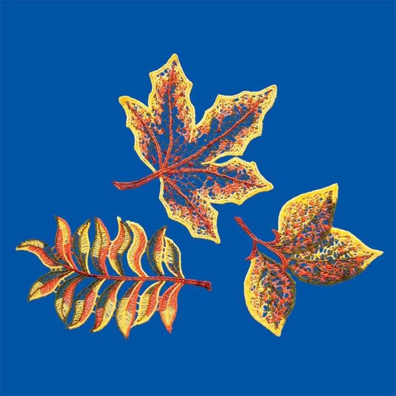... Online Shop - Baumbehang Fensterbilder Herbstlaub aus Plauener Spitze