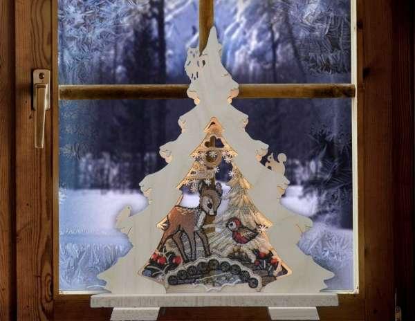 Gardinen welt online shop weihnachtlicher schwibbogen for Weihnachtsreh beleuchtet